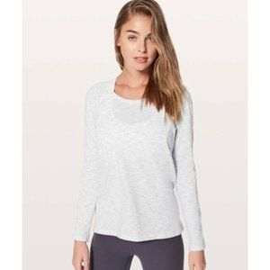 Lululemon Long Sleeve T-shirt Top Marled Cream